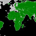 Kuvassa vihreällä maat, jotka ovat tunnustaneet Palestiinan valtion